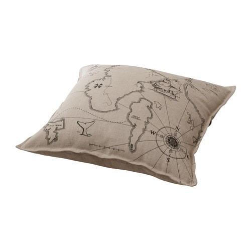 BENZY LAND Cushion   Cover is made of ramie; a hard-wearing and absorbent natural material.  Reversible; a different design on each side.