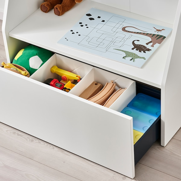 BERGIG Book display with storage, white