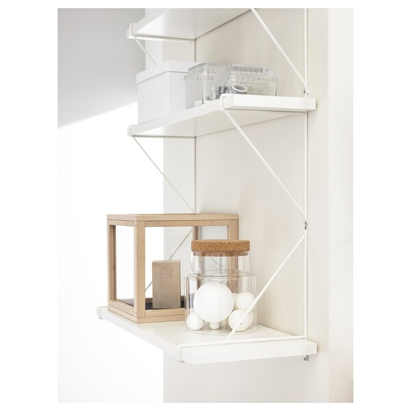 BERGSHULT / PERSHULT Wall shelf, white/white, 31 1/2x7 7/8 ""