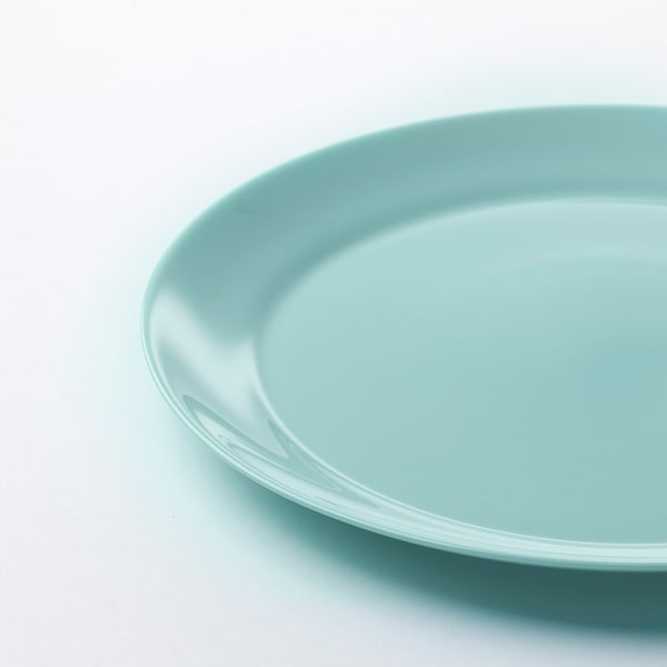 BESEGRA Plate, light turquoise, 9 ¾ ""