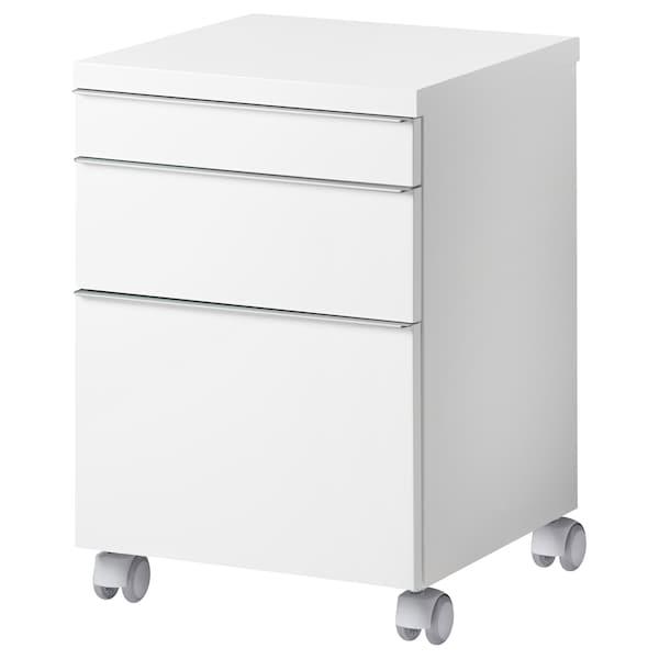 """BESTÅ BURS Drawer unit on casters, high gloss white, 15 3/4x15 3/4 """""""