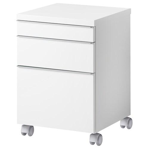 """BESTÅ BURS drawer unit on casters high gloss white 15 3/4 """" 15 3/4 """" 23 1/4 """""""