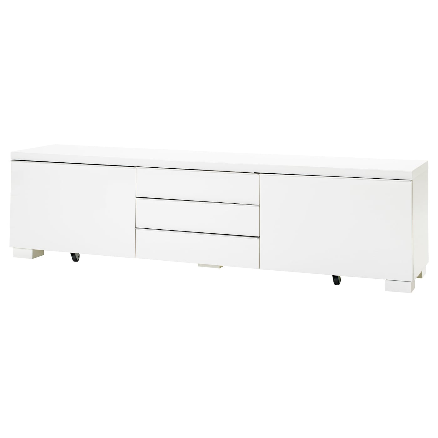 "Meuble Ikea Besta Blanc bestÅ burs tv bench - high gloss white 70 7/8x16 1/8x19 1/4 "" (180x41x49 cm)"