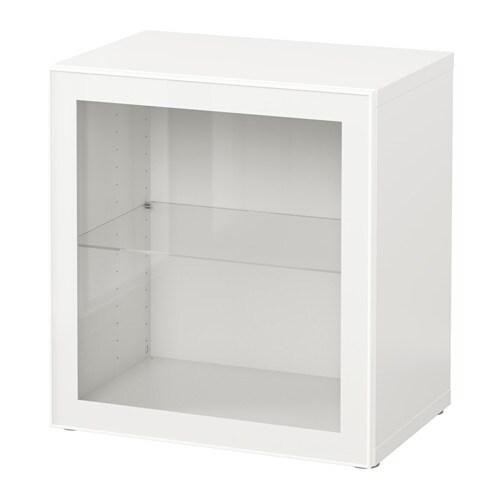Best Shelf Unit With Glass Door Whiteglassvik Whiteclear Glass
