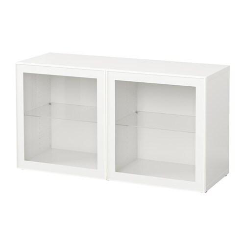 best shelf unit with glass doors white glassvik white clear glass ikea. Black Bedroom Furniture Sets. Home Design Ideas