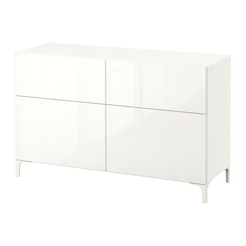 Best storage combination w doors drawers white for White gloss sideboards at ikea
