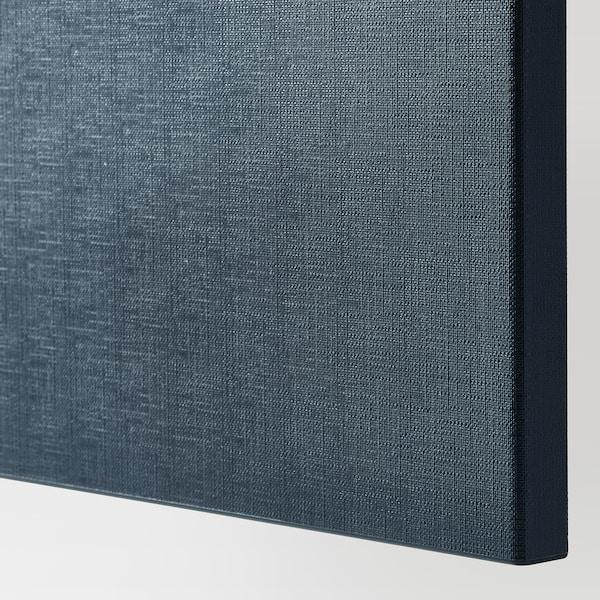 "BESTÅ Storage combination with doors, black-brown/Notviken blue, 47 1/4x16 1/2x25 5/8 """