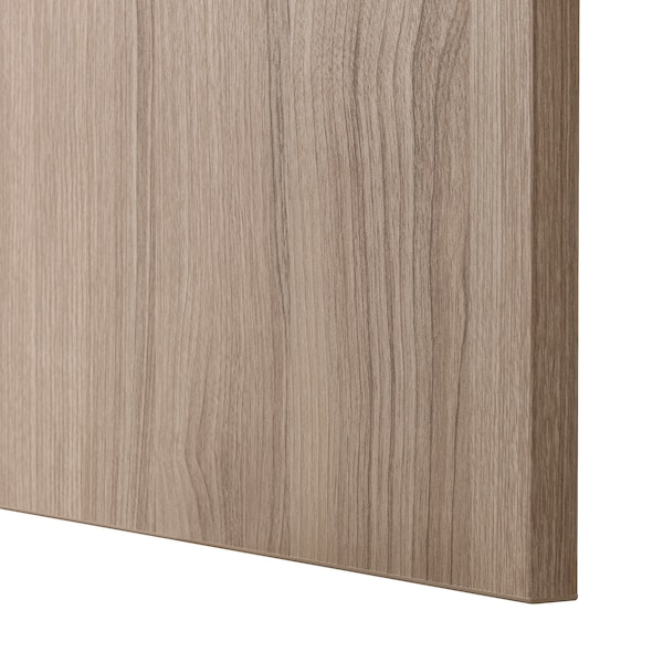 BESTÅ Storage combination with doors, walnut effect light gray/Lappviken walnut effect light gray, 47 1/4x16 1/2x25 5/8 ""