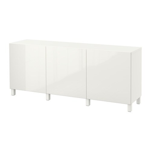 best storage combination with doors white selsviken high gloss white ikea. Black Bedroom Furniture Sets. Home Design Ideas