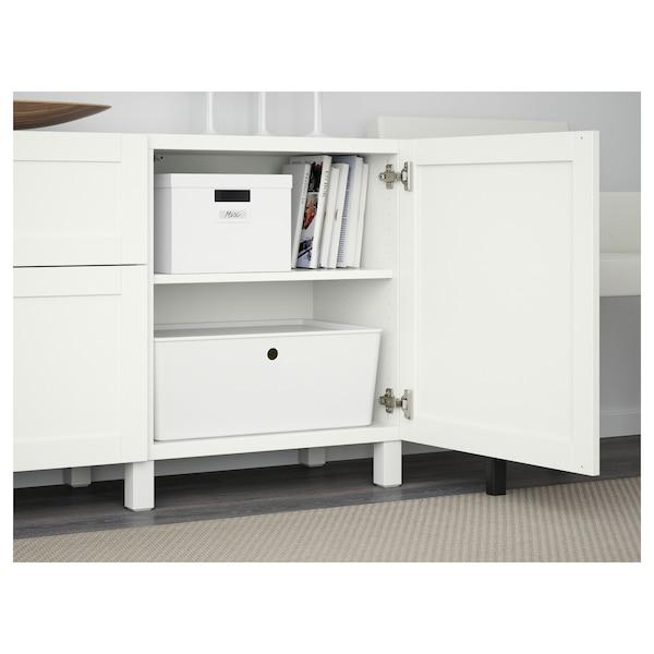 """BESTÅ Storage combination with drawers, white/Hanviken/Stubbarp white, 70 7/8x16 1/2x29 1/8 """""""
