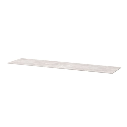 "BESTÅ top panel concrete effect/light gray 70 7/8 "" 16 1/2 "" 3/8 """
