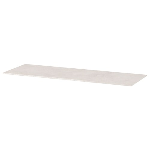 "BESTÅ top panel concrete effect/light gray 47 1/4 "" 16 1/2 "" 3/8 """