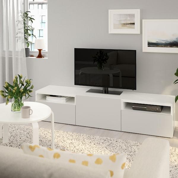Tv Meubel Billy.Besta Tv Bench White Lappviken Light Gray Ikea