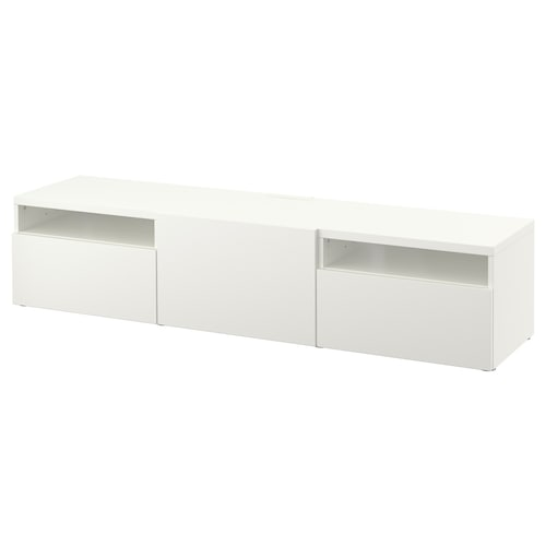 """BESTÅ TV bench white/Lappviken white 70 7/8 """" 16 1/2 """" 15 3/8 """" 110 lb"""