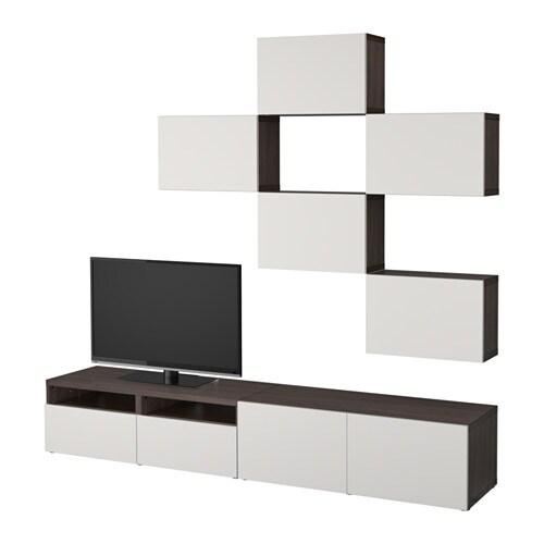 Best 197 Tv Storage Combination Black Brown Lappviken Light