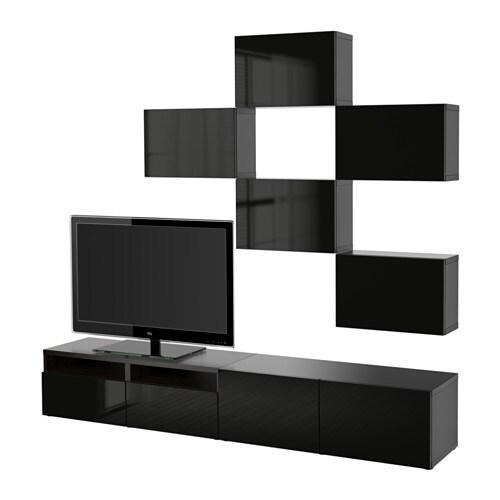 best 197 tv storage combination black brown selsviken high