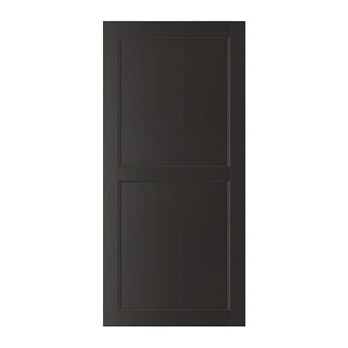 best vassbo door black brown 60x128 cm ikea. Black Bedroom Furniture Sets. Home Design Ideas