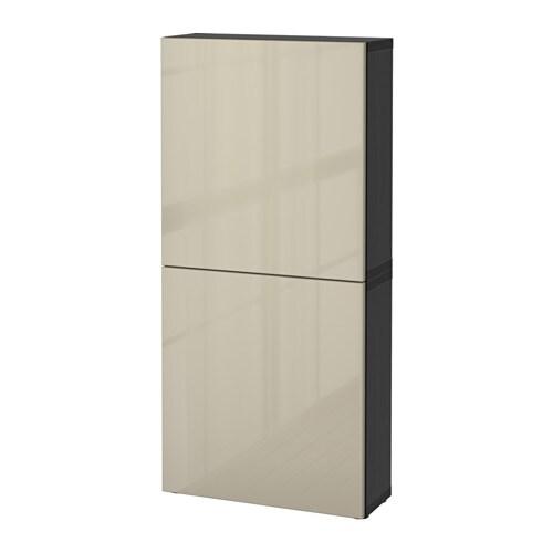 Best wall cabinet with 2 doors black brown selsviken - Armarios auxiliares ikea ...