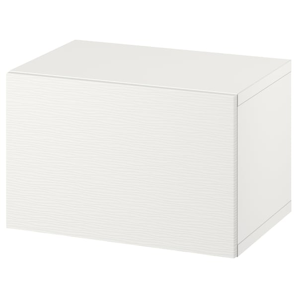 """BESTÅ Wall-mounted cabinet combination, white/Laxviken, 23 5/8x16 1/2x15 """""""