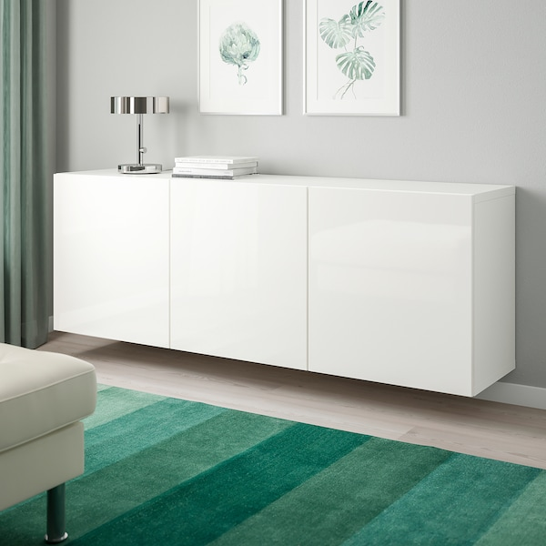 Besta Wall Mounted Cabinet Combination White Selsviken High
