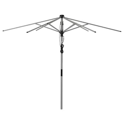 BETSÖ Umbrella frame, tilting/gray wood effect, 118 1/8 ""