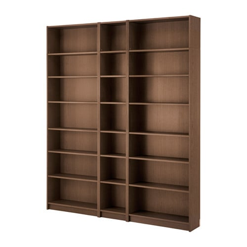 billy bookcase brown ash veneer ikea. Black Bedroom Furniture Sets. Home Design Ideas
