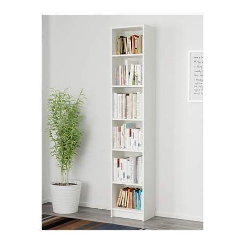 BILLY Bookcase Narrow Shelves Help You Use Small Wall Spaces Effectively By Accommodating Items In