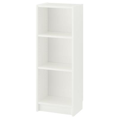"BILLY Bookcase, white, 15 3/4x11x41 3/4 """