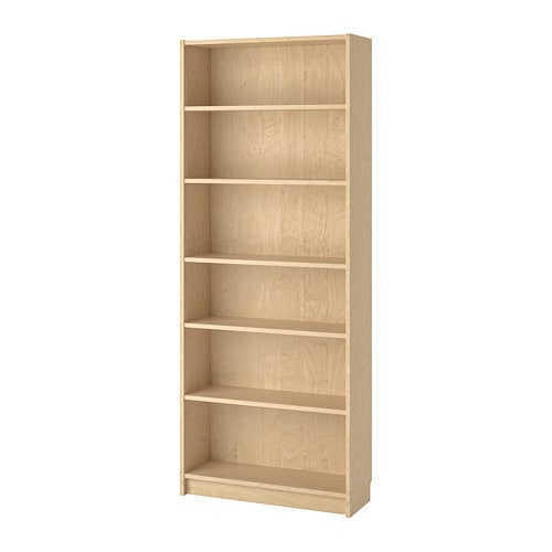 billy bookcase birch veneer ikea. Black Bedroom Furniture Sets. Home Design Ideas