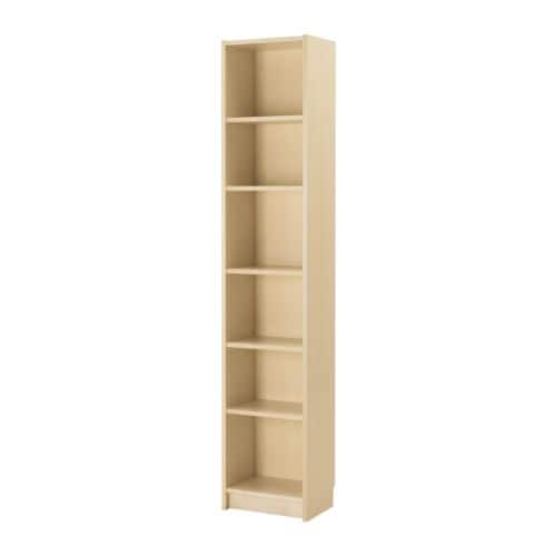 BILLY Bookcase   Narrow shelves help you use small wall spaces effectively by accommodating small items in a minimum of space.