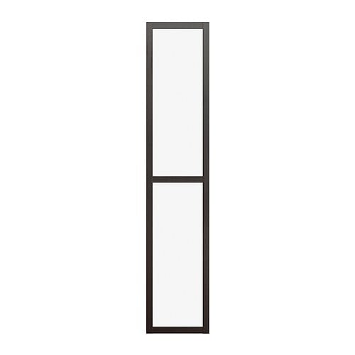 BILLY OLSBO Glass door   Push to open; no handles needed.  Adjustable hinges; adjust vertically and horizontally.