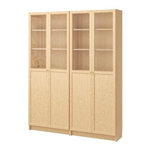Billy Oxberg Bookcase Birch Veneer Ikea