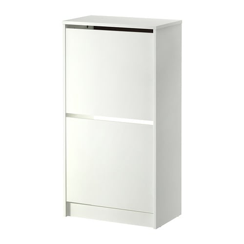 BISSA Shoe cabinet with 2 compartments   Helps you organize your shoes and saves floor space at the same time.