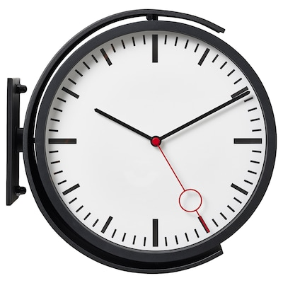 BISSING Wall clock, black, 11 ""