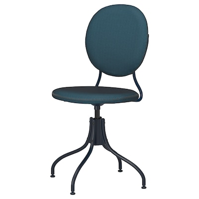 BJÖRKBERGET Swivel chair, Idekulla blue