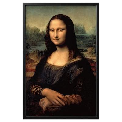 "BJÖRKSTA Picture and frame, Mona Lisa/black, 30 ¾x46 ½ """
