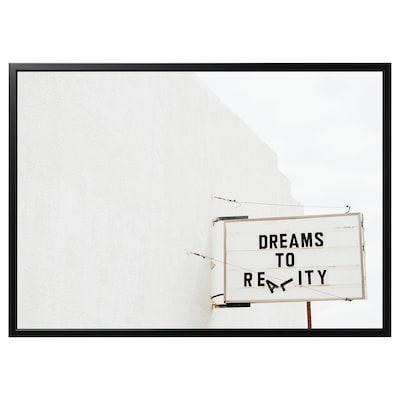 "BJÖRKSTA picture and frame dream/black 55 "" 39 ¼ """