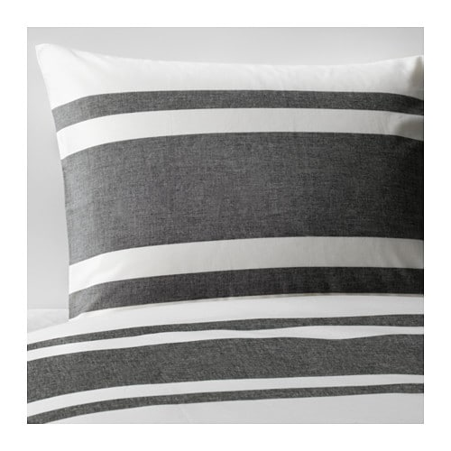 BJÖRNLOKA Duvet cover and pillowcase(s)   Yarn-dyed; the yarn is dyed before weaving; gives the bedlinens a soft feel.