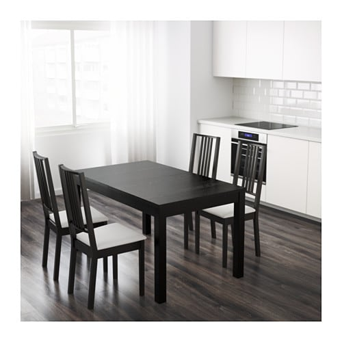 BJURSTA Extendable Table Dining With 2 Extra Leaves Seats 4 8 Makes