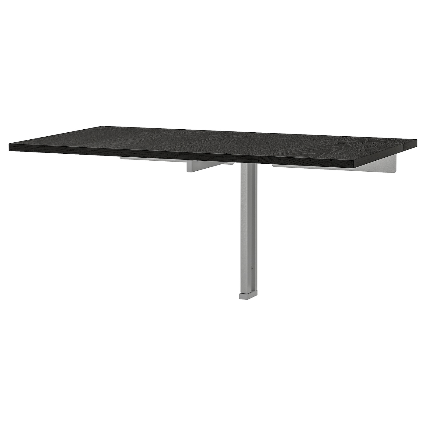 - BJURSTA Wall-mounted Drop-leaf Table - Brown-black - IKEA