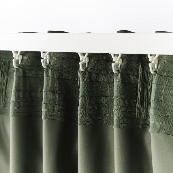 """BLÅHUVA Blackout curtains, 1 pair, green, 57x98 """""""