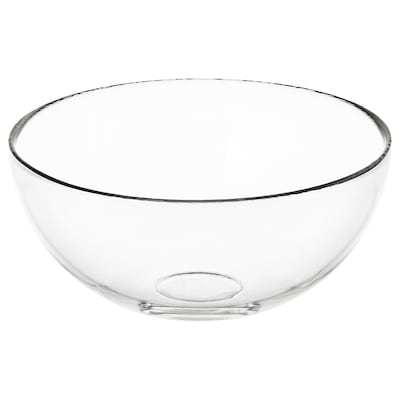 "BLANDA Serving bowl, clear glass, 8 """