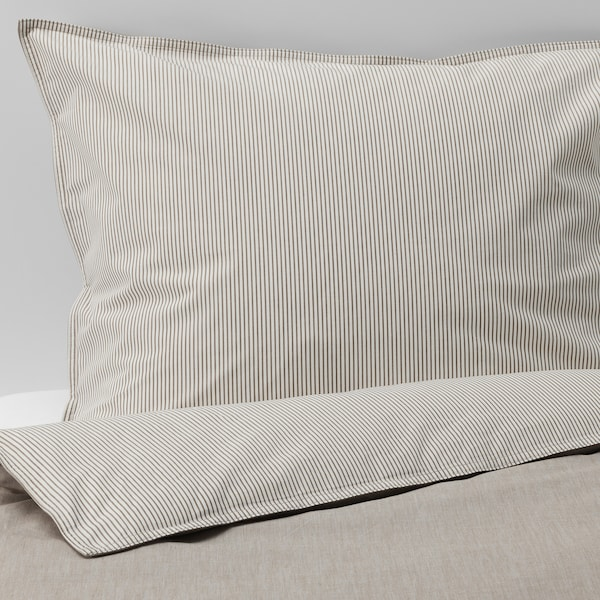 """BLÅVINDA duvet cover and pillowcase(s) beige 200 square inches 2 pack 86 """" 86 """" 20 """" 30 """""""