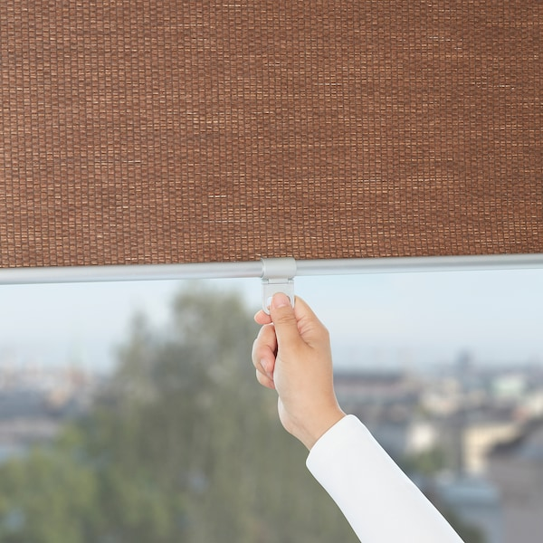 BLEKING Roller blind, red-brown, 42x76 ¾ ""