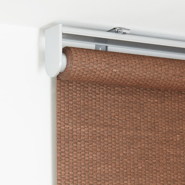 BLEKING Roller blind, red-brown, 38x76 ¾ ""