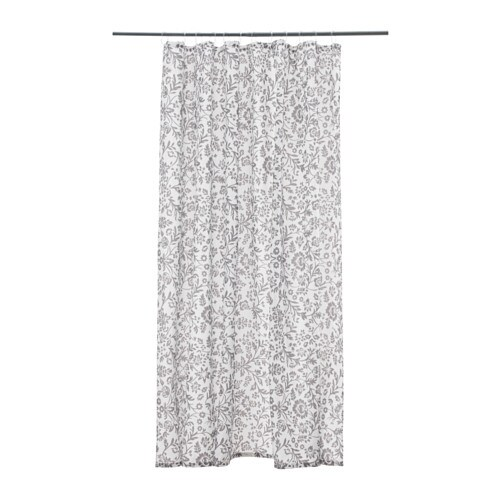 BLEKVIVA Shower Curtain White Gray