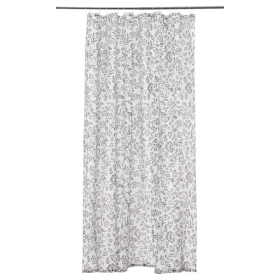 "BLEKVIVA shower curtain white/gray 71 "" 71 "" 34.88 sq feet"
