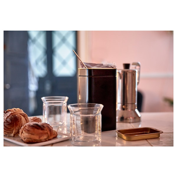 """BLOMNING Coffee/tea canister, 4 ¼x2 ¾x7 ¾ """""""