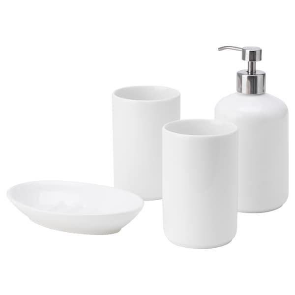 BOASJÖ 4-piece bathroom set, white