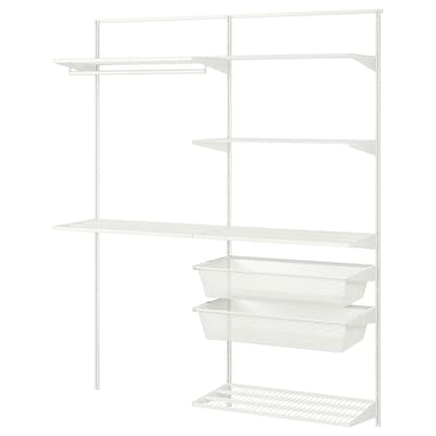 """BOAXEL 2 section shelving unit, white, 64 7/8x15 3/4x79 """""""
